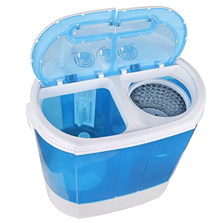 ZENSTYLE Compact Design Mini Twin Tub 9.9 LB Top Load Washing Machine Portable 2-in-1 Washer Spinner w 6.57 FT Inlet Hose