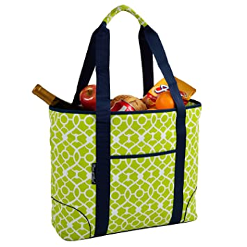 af3b9fd41099 Image Unavailable. Image not available for. Color  Picnic at Ascot Extra Large  Insulated Cooler Bag - 30 Can Tote - Trellis Green
