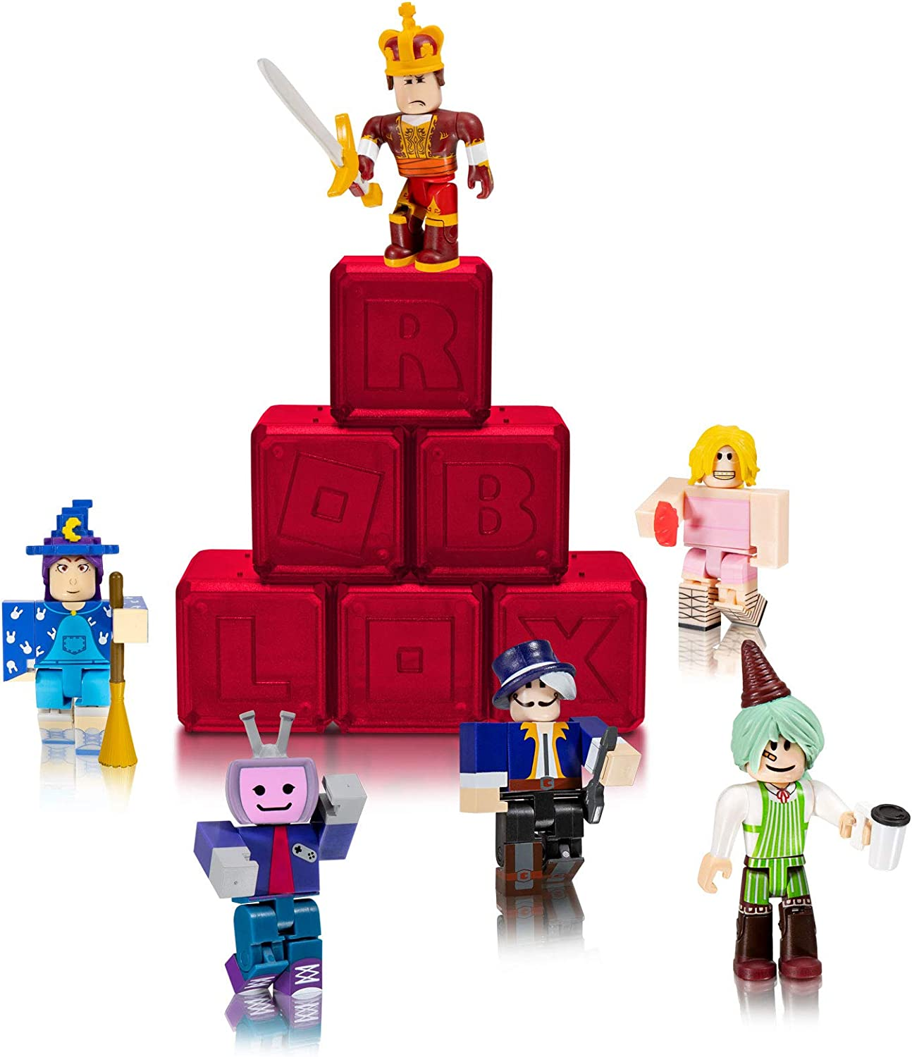 Roblox 5 Amazon Com Roblox Celebrity Collection Series 5 Mystery Figure 6 Pack Includes 6 Exclusive Virtual Items Toys Games