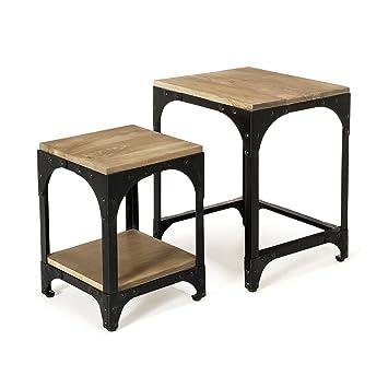 économiser cb748 6acf4 New Ately Tables basses gigognes style industriel Naturel ...