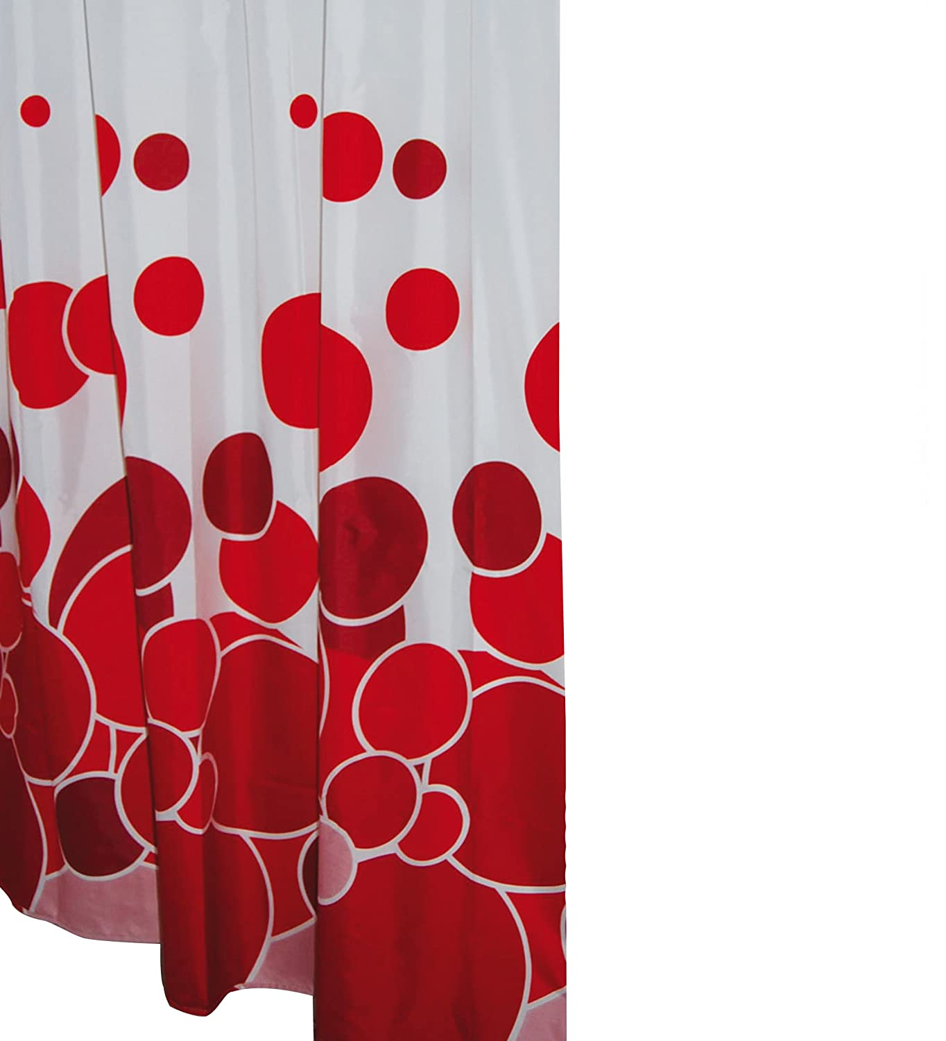 Ridder Shower Curtain textile 180 x 200 cm Kani red