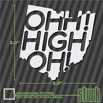 Amazoncom Ohh High Oh X Vinyl Decal Sticker Ohio - Custom vinyl decals cleveland ohio