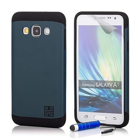 32nd Funda Armadura Rigida Slim Armour con Doble Carcasa para Samsung Galaxy A5 (2015) SM-A500 - Azul Pizarra