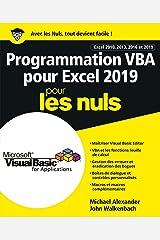 Programmation VBA pour Excel 2019 Pour les Nuls (French Edition) Kindle Edition