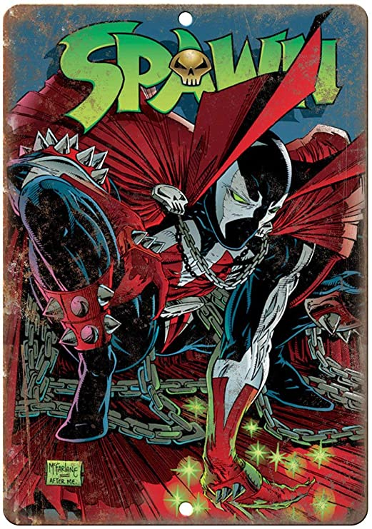 Todghrt Spawn Comic Book Marvel Comics - Letrero de Metal de ...