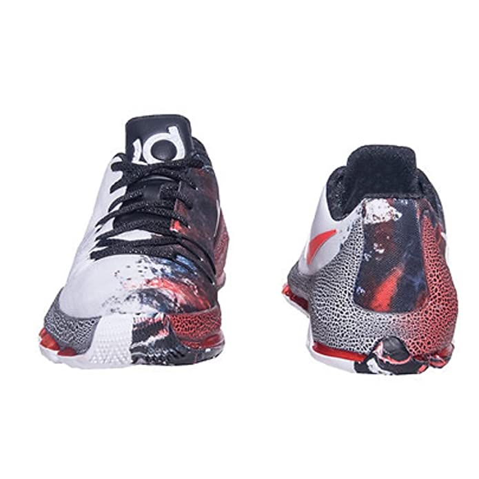 Amazon.com | Nike 824464-106 KD 8 VIIII Christmas GS White Black Red ...