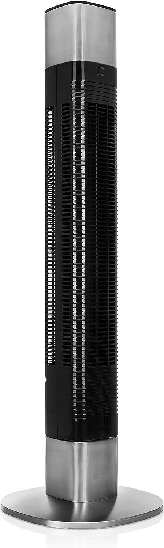 Princess 350000 Ventilador de Pie Inteligente – Pro Series-103 cm – Control a través de Aplicación y por Voz, 50 W, Negro/gris
