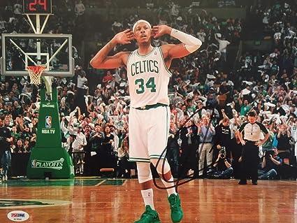 a380caf24 Image Unavailable. Image not available for. Color  Paul Pierce Autographed  Signed 11x14 Boston Celtics Photo Memorabilia ...