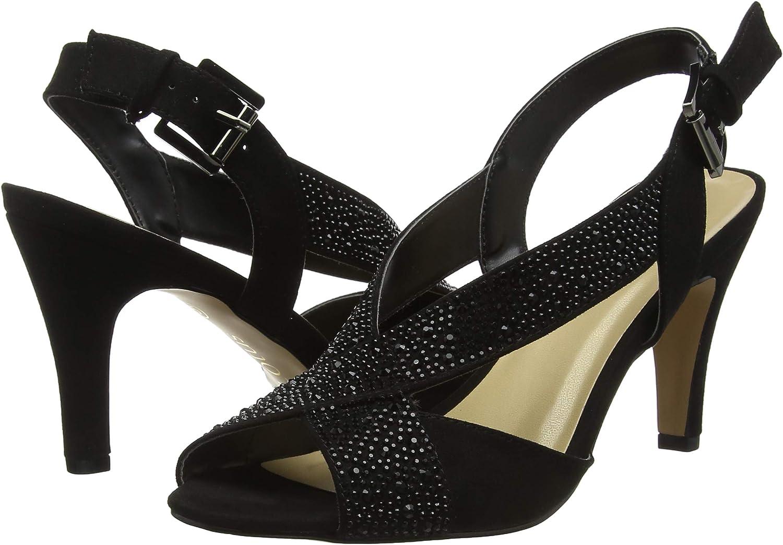 M Lotus Womens Anya Dress Sandals 6 C US Black//Diamante UK// 8.5 B M