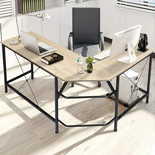 KINGSO L Shaped Computer Desk
