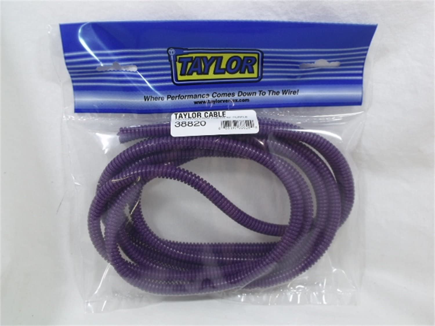Taylor Cable 38820 Purple Convoluted Tubing