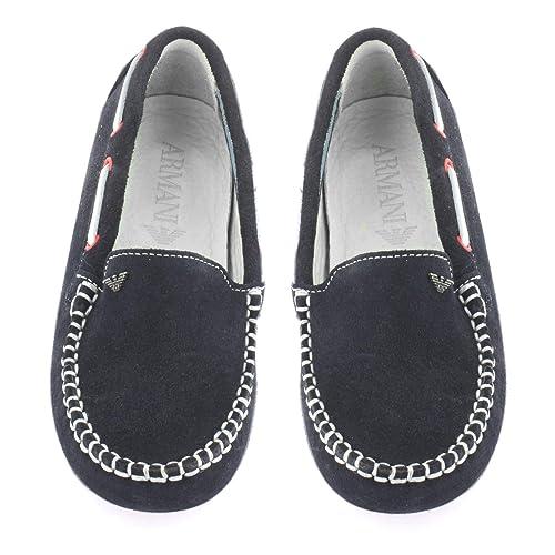Armani Junior - Mocasines de Ante para niño Azul Azul: Amazon.es: Zapatos y complementos