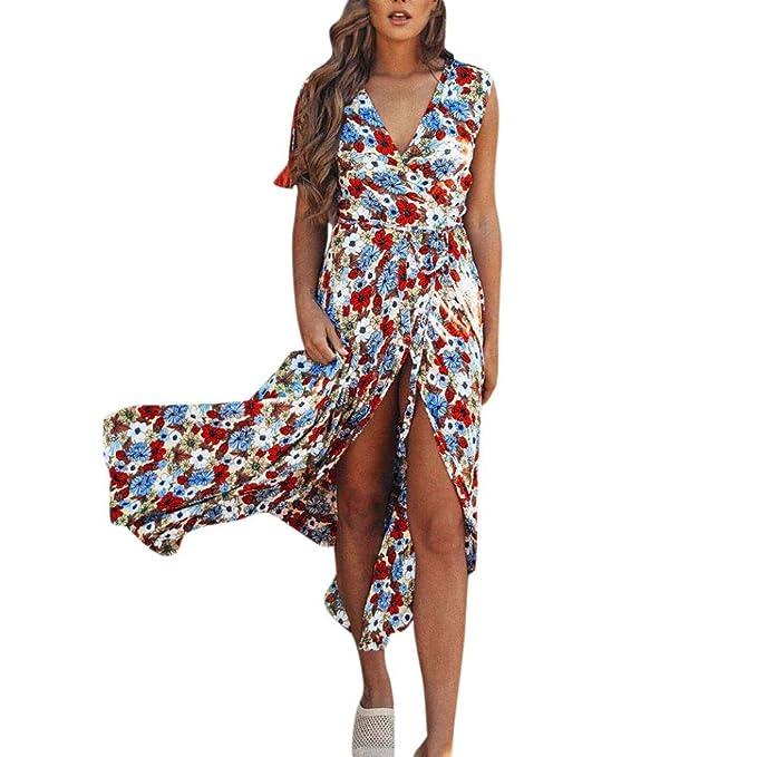 Vestidos Mujer Verano 2018,Mujeres sexy estampado floral ajustable ...