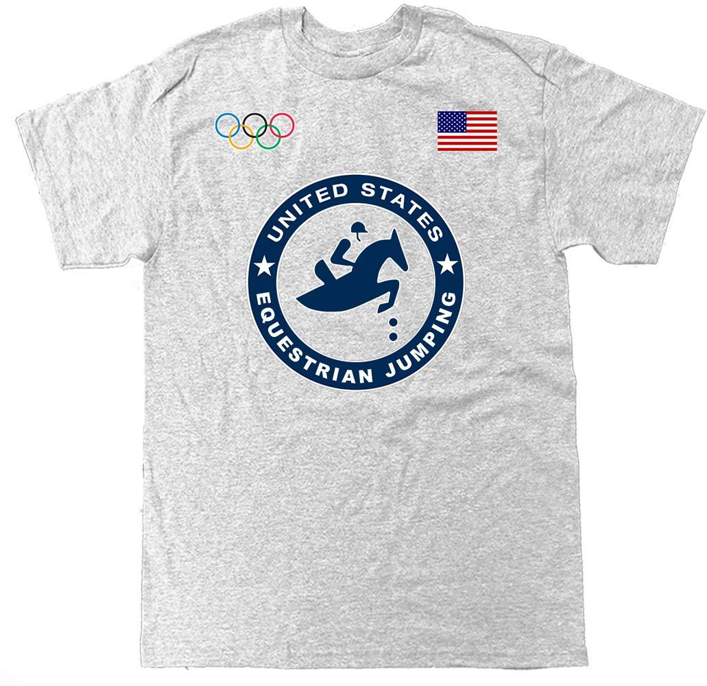 S Usa Equestrian Jumping T Shirt