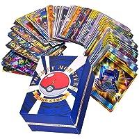 SunAurora 120 Stuks Pokemon-Kaarten, Pokemon-Ruilkaarten Set met 20 GX Pokemon Kaarten + 50 Mega Pokemon Kaarten + 30…