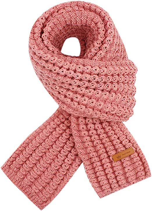 Warm Autumn and Winter Scarf,EONPOW Unisex Pure Color Winter Neck Warm Knitting Yarn Scarf