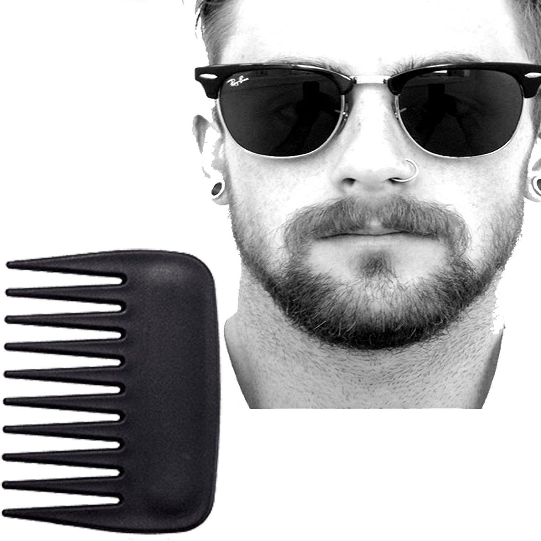 Karibbe Premium Beard Apron Cape + Free Shaper Template Comb & BeardStyles Ebook Included - Professional Salon Grade Black Hair Trimmings Cleaner for Men - Makes Grooming Disposal Easy / Black by WJkuku (Image #2)