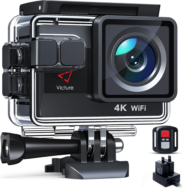 Victure Ac820 Native 4k 50fps Action Kamera Eis 4x Zoom Kamera