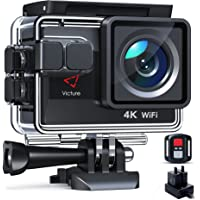 Victure Nueva Versión 4K/50FPS Cámara Deportiva Wi-Fi 4K Ultra HD 20MP con Control Remoto y Pantalla Táctil (Action…