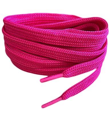 Síguenos equilibrar colección  Smart Laces Cordones planos para zapatos 120 cm, color rosa ...