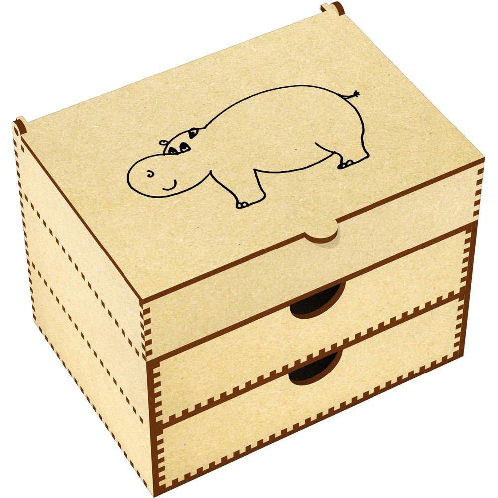 Azeeda 'Hippo' Vanity Case / Makeup Box (VC00007604)