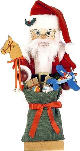 Alexander Taron Importer 0-463 Christian Ulbricht Nutcracker-Santa with Toys-Ltd Edition 1000 pcs-18.25 H x 8 W x 8.25 D, Brown