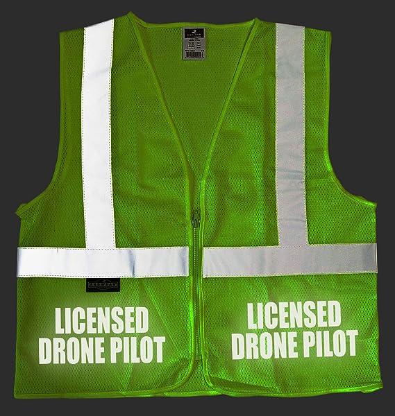REFLECTIVE design High Visibility vest. Licensed Drone Pilot Survivor Vest