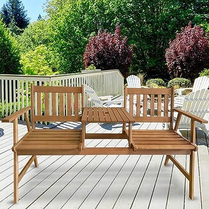 Excellent Amazon Com Outdoor Patio Bench Tete A Tete Garden Bench Unemploymentrelief Wooden Chair Designs For Living Room Unemploymentrelieforg