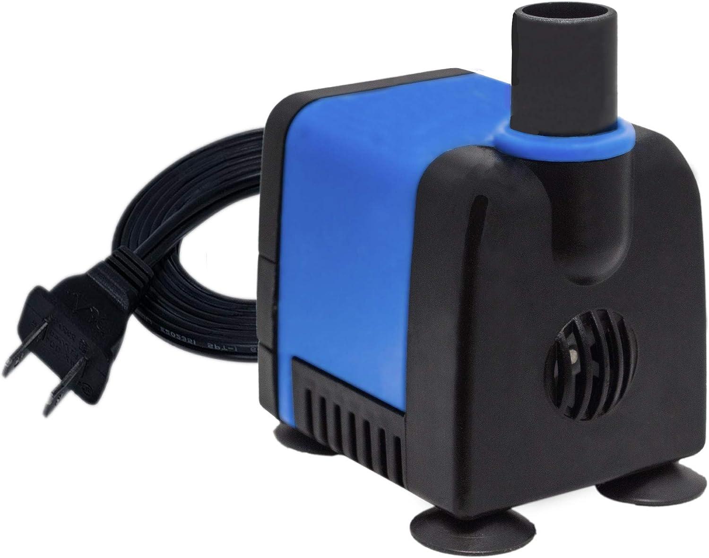 Aqua Dream DB3 Series Submersible Pump Ultra Quiet Adjustable Water Pump for Pond,Aquarium,Fish Tank,Fountain,Hydroponics,Statuary