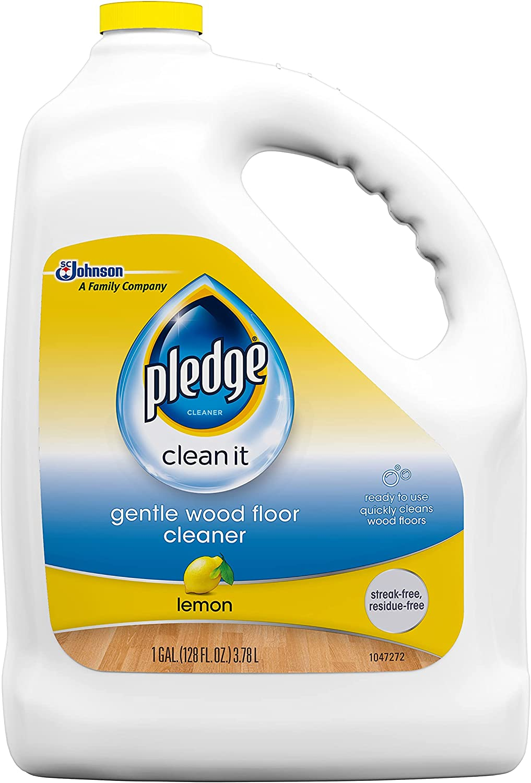 Pledge Wood Floor Cleaner Liquid, Shines Hardwood, Removes Dirt, Safe and Gentle, Lemon, 1 Gallon: Health & Personal Care