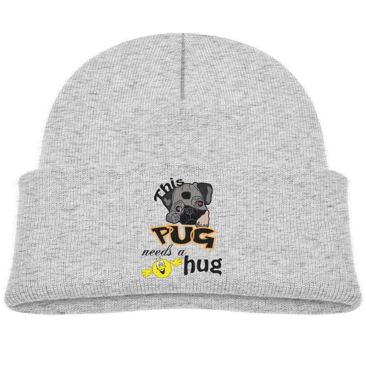 This Pug Needs A Hug Skull Caps Baby Girls