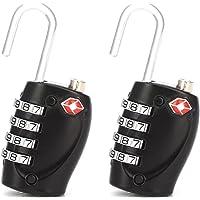 [Amazing Tour] 2 x TSA Security Padlock - 4-dial Combination Travel Suitcase Luggage Bag Code Lock