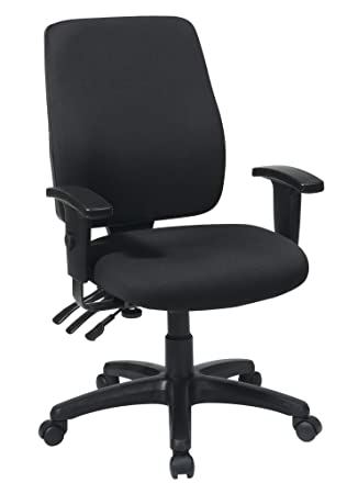 Super Office Star High Back Dual Function Ergonomic Chair With Ratchet Back Height Adjustment With 2 Way Adjustable Arms Black Pdpeps Interior Chair Design Pdpepsorg