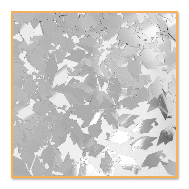 24 Silber Grad Caps Confetti silber