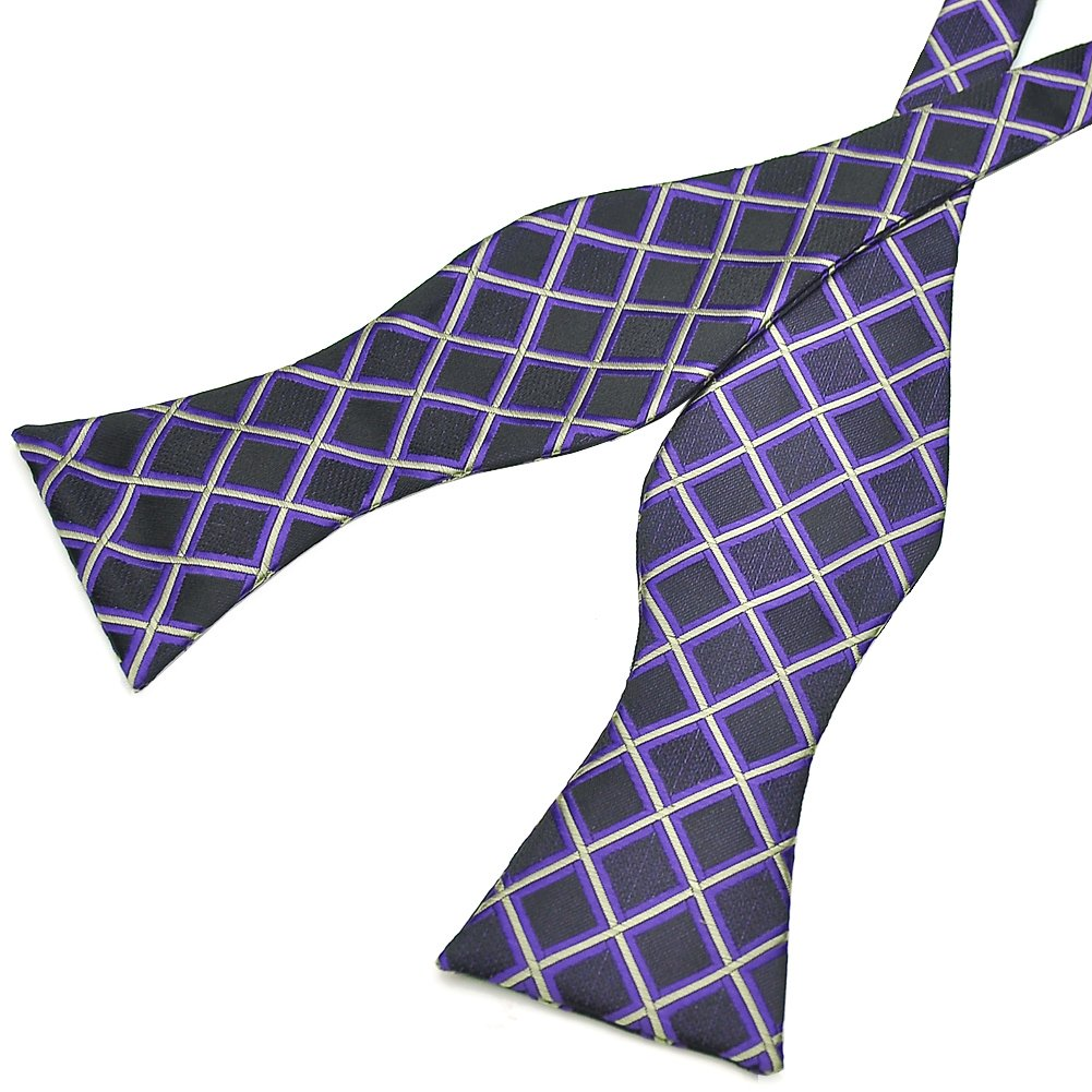 Pensee Mens Self Bow Tie Plaids /& Checked Jacquard Woven Silk Bow Ties Various Colors