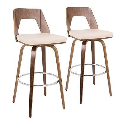 Sensational Lumisource 30 In Barstool In Cream Set Of 2 Evergreenethics Interior Chair Design Evergreenethicsorg