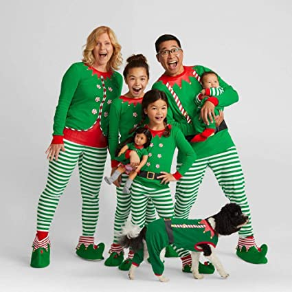 c698f753993a Sinwo Men Women Kids T Shirt Blouse Pants Family Christmas Pajamas Set  Family Clothes (2T