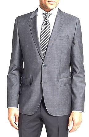 6a3dec8d1 Amazon.com: Hugo Boss Mens Aeris Slim Fit Sweet Basic Brazer Grey/Black  Micro Dot, 44R: Clothing