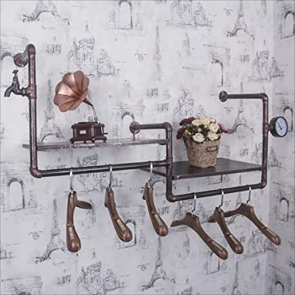YMJ Perchero Vintage Loft Iron Hose Coat Rack, Sala de Estar ...