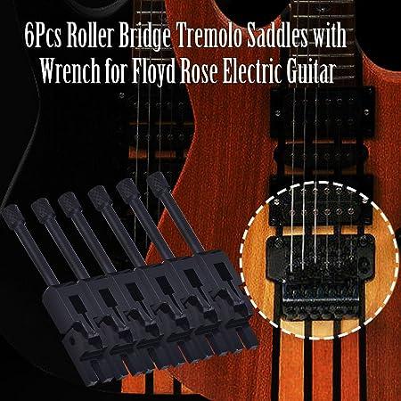 6pcs Sillines de Bloqueo de Puente de Tr/émolo de Metal con Tornillo Primavera para Guitarra Electrica Dilwe Guitarra El/éctrica Tremolo Bridge Sillines