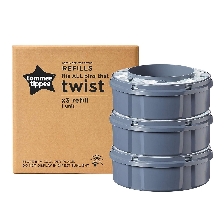 Tommee Tippee Twist /& Click Windeleimer inkl 4 Kassetten Dezentes-Pink TOP