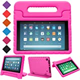BMOUO Case for All-New Fire HD 8 2017 - Light Weight Shock Proof Convertible Handle Kid-Proof Cover Kids Case for All-New Fire HD 8 Tablet (7th Generation, 2017 Release), Rose