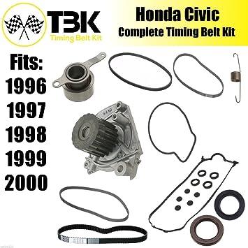 Kit de Correa dentada Honda Civic Bomba de agua, tensor, tapa de la válvula Juntas Sellado ...