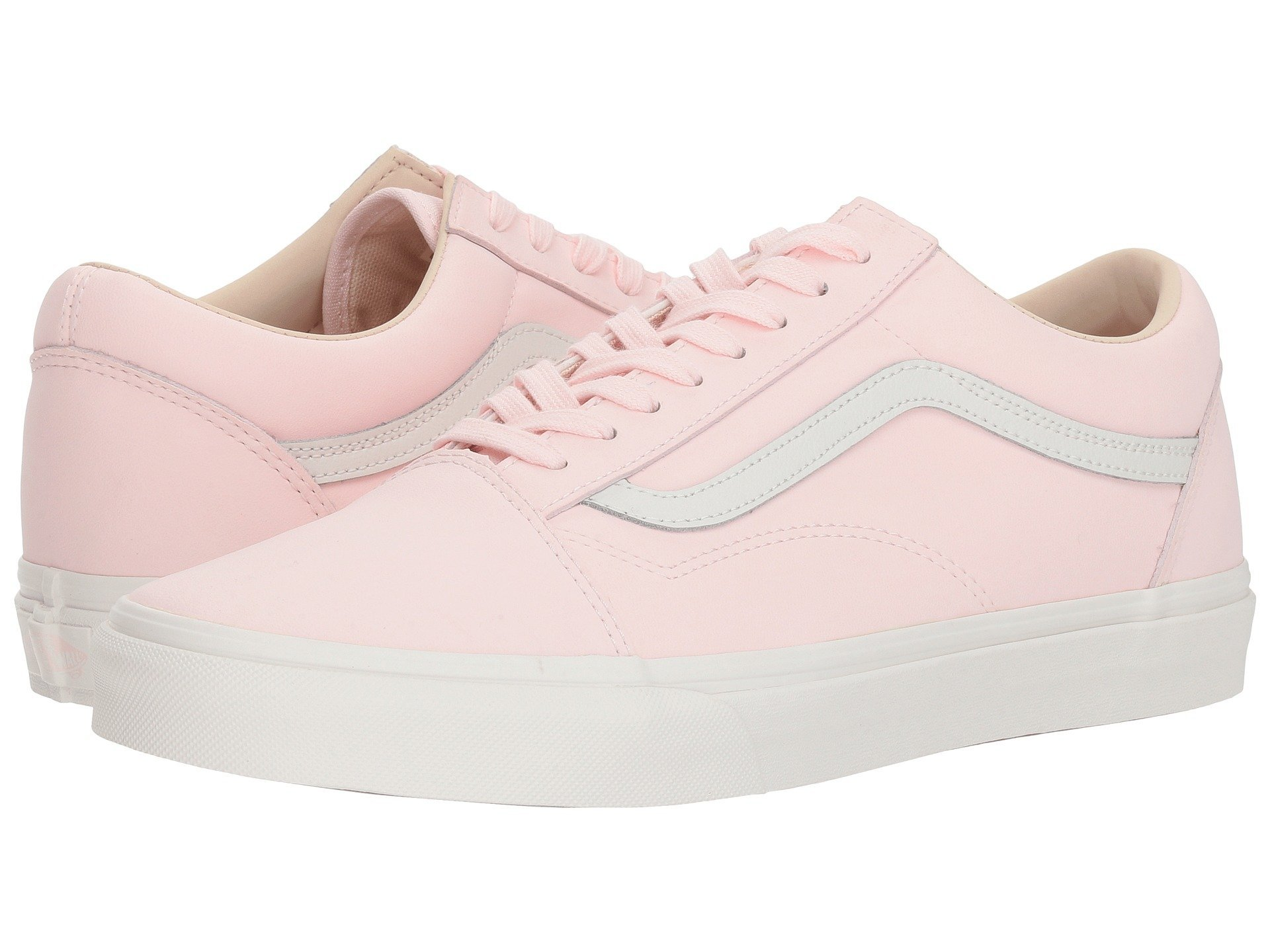 Vans Buck Old Skool Unisex Womens Skateboarding-Shoes VN-0A38G1U5W_7 - Pink/True White