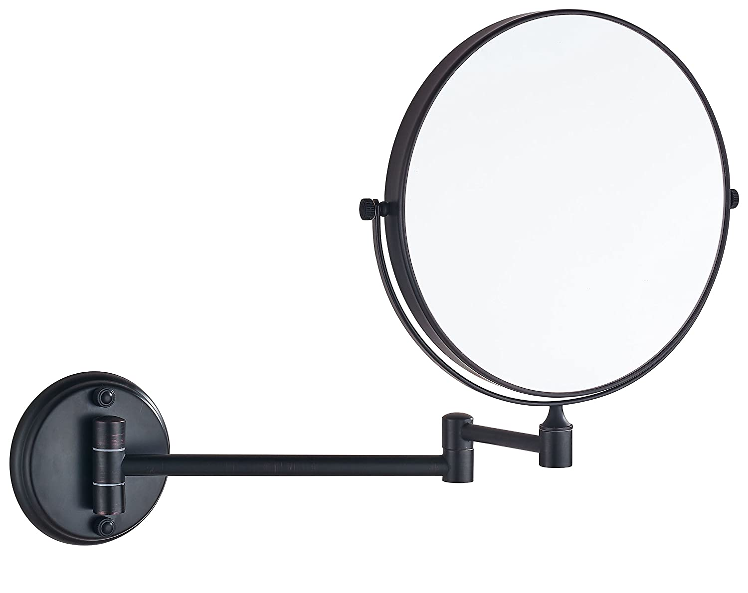 """Cavoli Oil Rubbed Bronze Wall Mounted Mirror with 10x Magnification for Bathroom& Vanity,8 Inch Two-Sided Swivel,12"""" Extension(8in,10x)"""