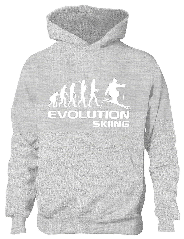Skier/Evolution Ski ~~Kinder/Mädchen/Jungen Hoody In 6 Farben, Alter 5-10