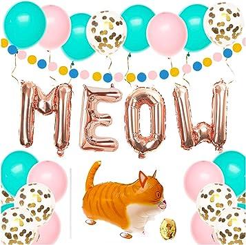 Amazon.com: Suministros para fiestas de cumpleaños de gatos ...