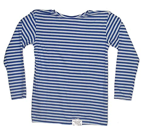 Long Sleeved Telnyashka Russian Navy Striped Shirt (M) | Amazon.com