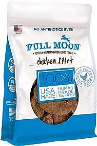 Full Moon All Natural Human Grade Dog Treats, Chicken Fillet, 3 Lb., 48.0 ounce (98096)