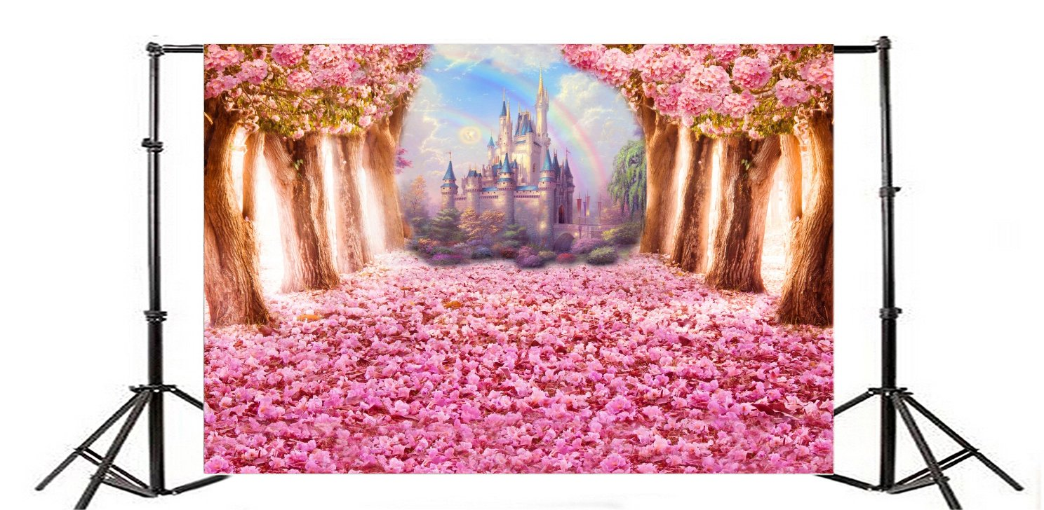 Amazon.com : OFILA Fantasy Flowers Blossoms Backdrop 8x6.5ft Dreamy ...